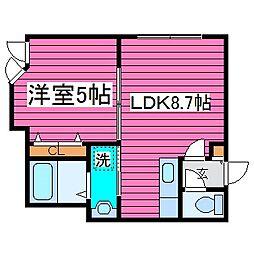 北海道札幌市東区北三十七条東18丁目の賃貸アパートの間取り