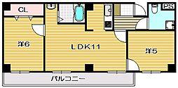 山崎第6マンション[201a号室]の間取り