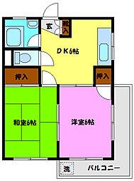 みのるマンション[301号室]の間取り