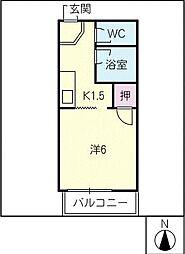 レジデンス東山B棟[1階]の間取り
