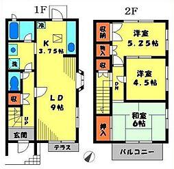 [テラスハウス] 東京都町田市金井3丁目 の賃貸【/】の間取り