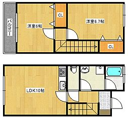 レユシール[1階]の間取り