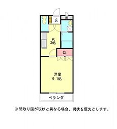 愛知県一宮市大和町苅安賀字地蔵前の賃貸アパートの間取り