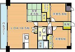 スマートII[13階]の間取り