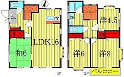 [一戸建] 千葉県柏市東中新宿2丁目 の賃貸【/】の間取り