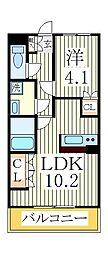 ヒルクレストM[2階]の間取り