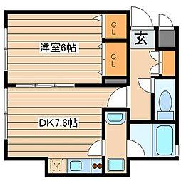 マイスターハウス川崎[101号室]の間取り