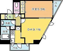 アネシス片野[3階]の間取り