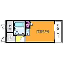 マリッシュ新大阪[3階]の間取り