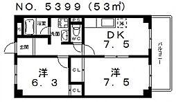 エクセルコート[303号室号室]の間取り