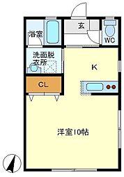 T&C 202[2階]の間取り