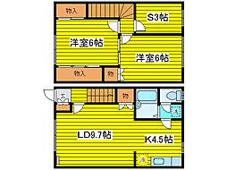 [テラスハウス] 北海道札幌市東区北十四条東15丁目 の賃貸【/】の間取り