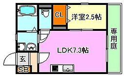 グルーブメゾン須磨東町[1階]の間取り