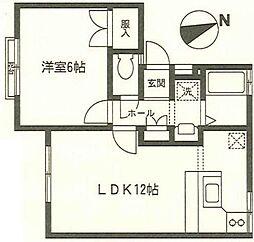 神奈川県秦野市今泉の賃貸アパートの間取り