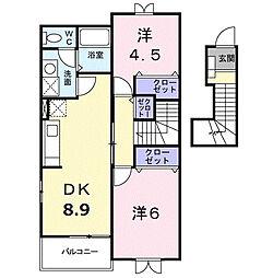 アーバンライフ B[2階]の間取り