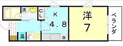 ペラパラスV[3-A号室号室]の間取り