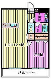 ウィステリアヤハギ2番館[2階]の間取り