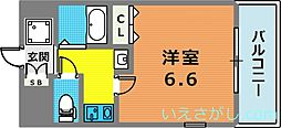エステムコート新神戸エリタージュ[6階]の間取り