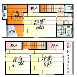 [テラスハウス] 大阪府吹田市新芦屋下 の賃貸【/】の間取り