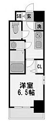 レジュールアッシュ京橋クロス 7階1Kの間取り