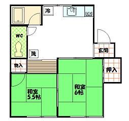 柿ノ木コーポ[202号室]の間取り