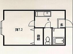 エステーラ東[2-F号室]の間取り
