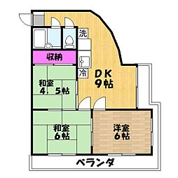 マルマンプラザ武里[4階]の間取り