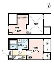 愛知県名古屋市南区堤町4丁目の賃貸アパートの間取り
