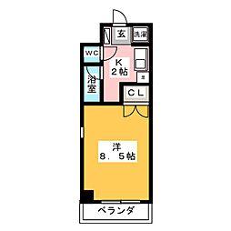 アドバンス竹越[3階]の間取り