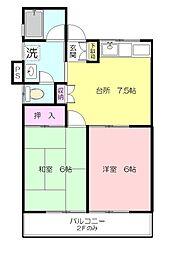 ハウス荏田A[1階]の間取り