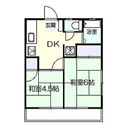 東台椿山荘[203号室]の間取り