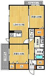 (仮称)八尾市シャーメゾン宮町1丁目計画[2階]の間取り