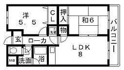 マンション阪奈[403号室号室]の間取り