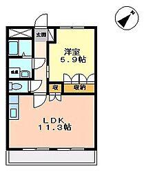 響ガーデンレジデンス[1階]の間取り