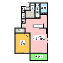 プラーナ C[1階]の間取り