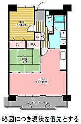 愛知県名古屋市千種区星が丘山手の賃貸マンションの間取り