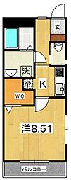 ジ・アパートメント下堀[207号室号室]の間取り