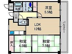 マンションフォルツーナ[3階]の間取り