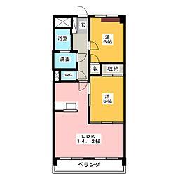 メゾン蒼空[5階]の間取り