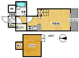 コスモレジデンス北加賀屋II[4階]の間取り