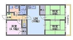 ニューシャトー長岡[2階]の間取り