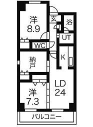 メゾンラフィネIII[4階]の間取り