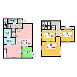 [一戸建] 三重県四日市市ときわ3丁目 の賃貸【/】の間取り