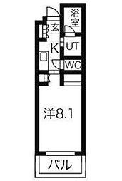 ガーデン東新宿[413号室号室]の間取り