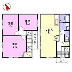 リガトーニII[1階]の間取り