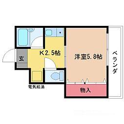 オプスMITSUYA[4階]の間取り