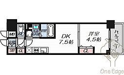 ザ・パークハビオ天満橋[4階]の間取り