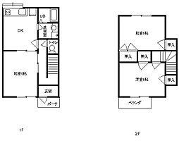 [テラスハウス] 神奈川県平塚市横内 の賃貸【/】の間取り