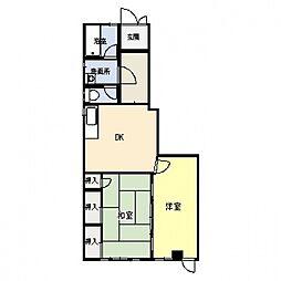 KDマンション[102号室号室]の間取り
