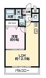 USHIO−05[206号室]の間取り